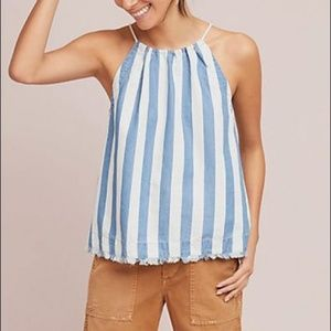 Anthropologie | Maeve | Chambray Halter Top